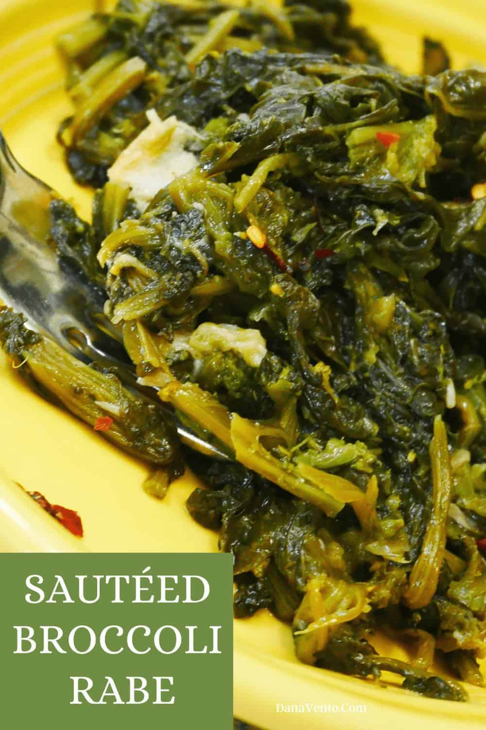 sauteed broccoli rabe superfood up close on a plate