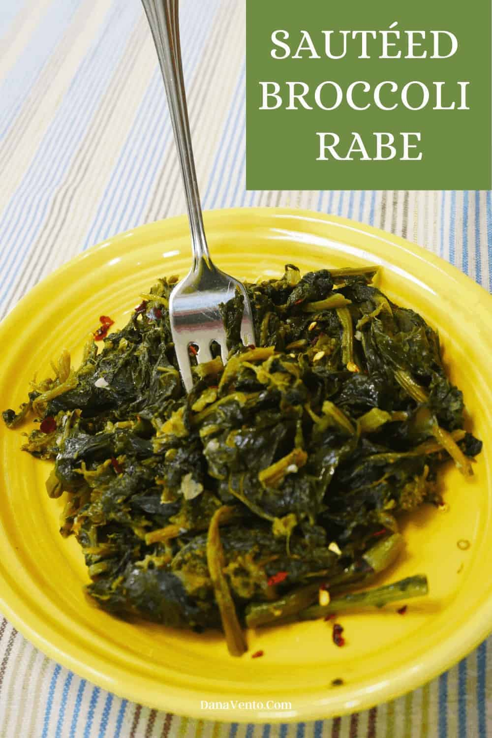 broccoli rabe on plate finished