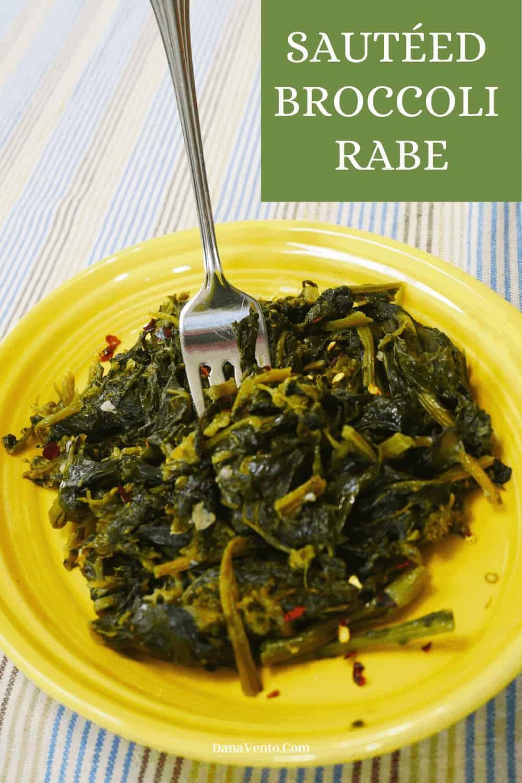 broccoli rabe on plate fininshed