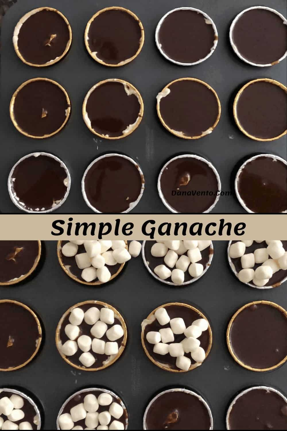easy chocolate ganache filling for cheesecakes