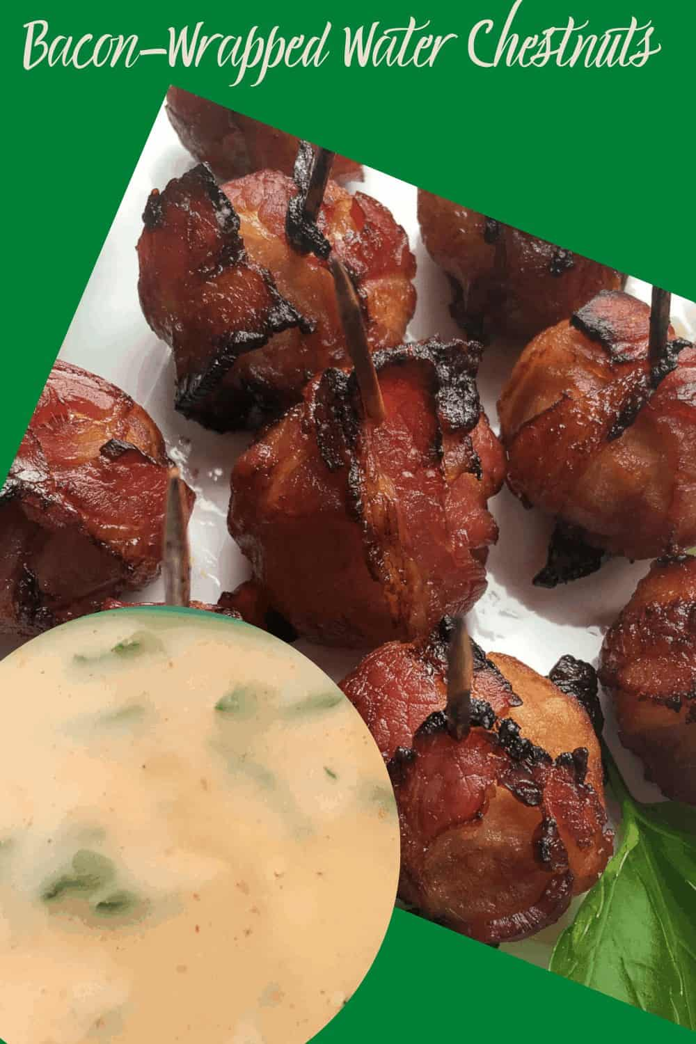 Dip for Water chestnuts in bacon