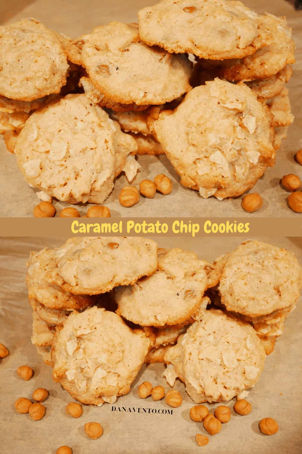 2 images of potato chip cookies