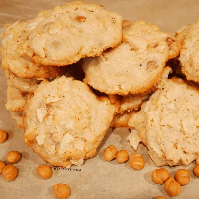 sweet and salty carmel bits with cookies