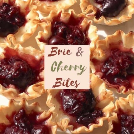 Small Plate & Brunch-Worthy Brie and Cherry Bites. Perfect Holiday Appetizers!
