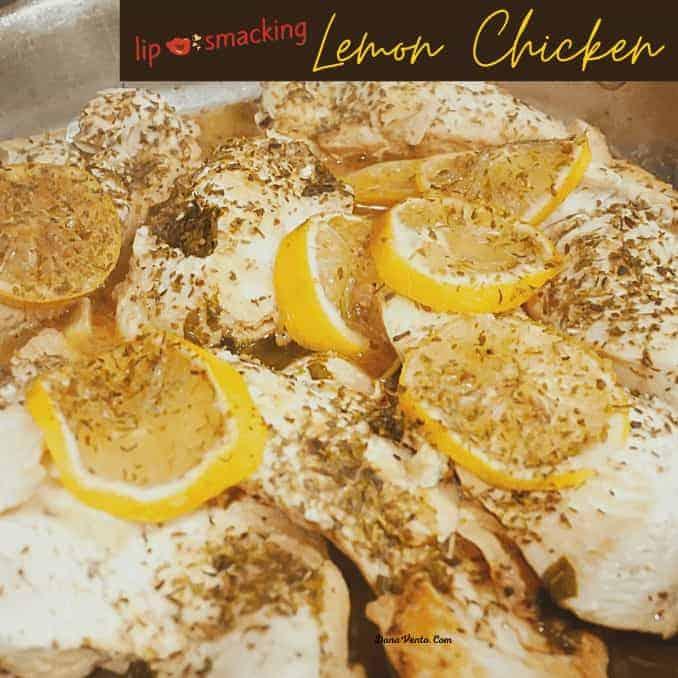 Lip-Smacking Lemon Chicken  in pan