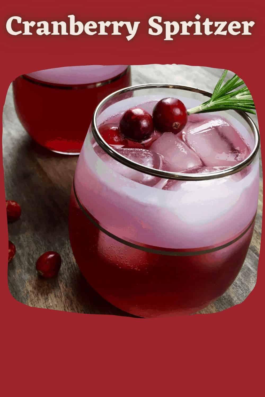 Cranberry Spritzer with 2 cranberries