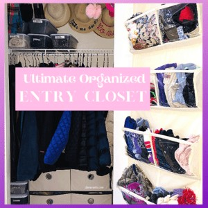 The Ultimate Organized Entry Closet in 6 Easy Steps