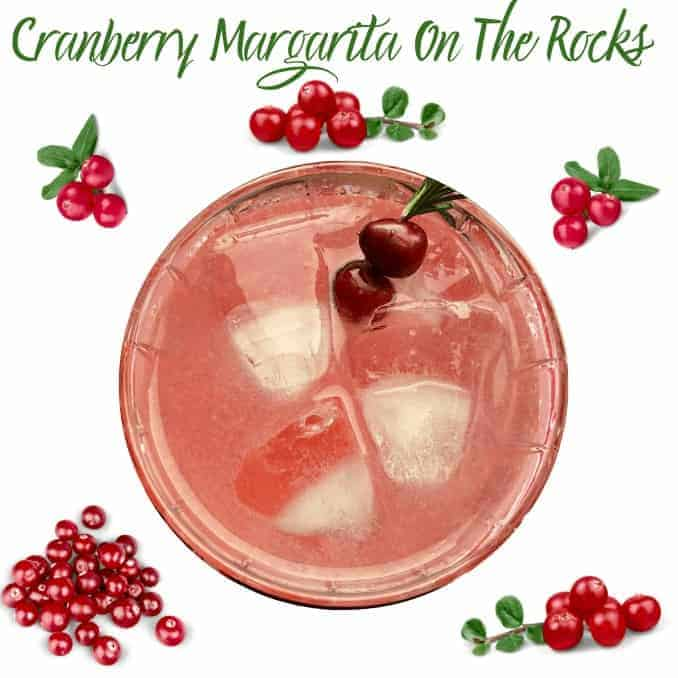 Holiday Cranberry Margaritas On The Rocks