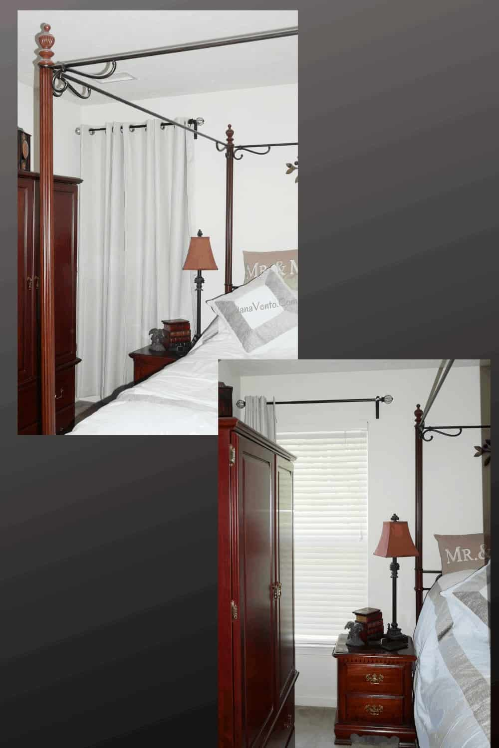 Dressed window with energy-efficient curtains