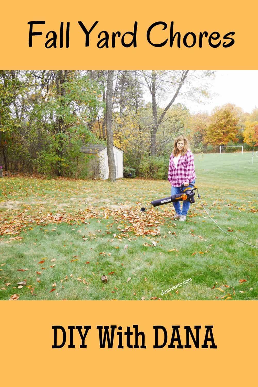 Dana Blowing Leaves