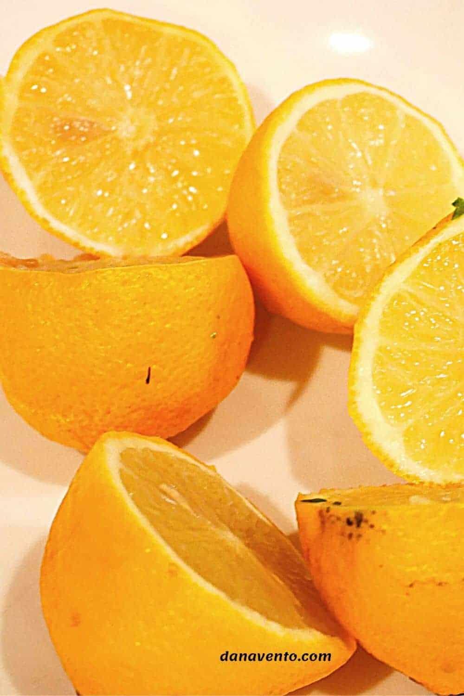 lemons in a bowl for easiest lemon chicken recipe