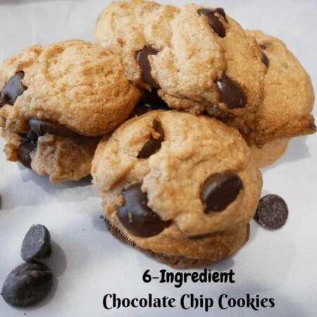 6 ingredient chocolate chip cookies