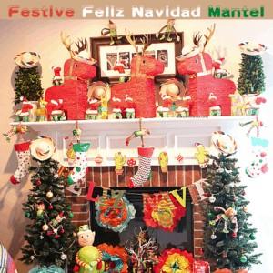 Festive Feliz Navidad Mantel DIY with 7 Decoration Ideas