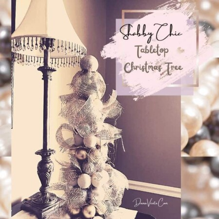 How To Craft A Shabby Chic Tabletop Christmas Tree. An Elegant and Easy DIY.