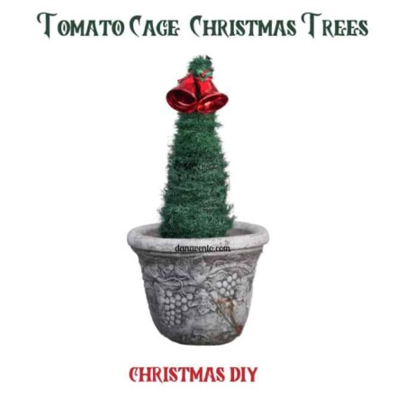 DIY Tomato Cage Christmas Trees for Outdoor and Indoor Use!