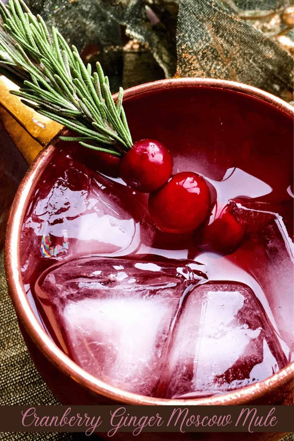 Sprig of Cranberry and rosemary