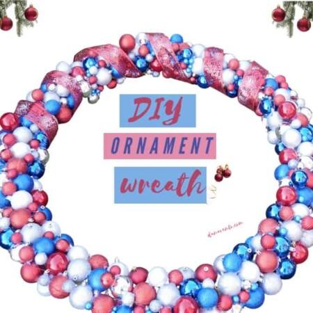 DIY LARGE Christmas Ornament Wreath You Can Easily Make