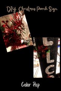 Garland to the Christmas Sign