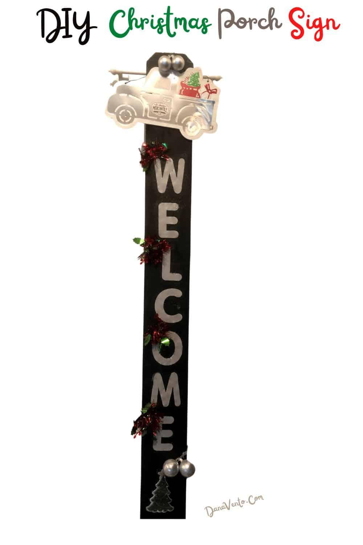 Enjoy your DIY Christmas Porch Sign
