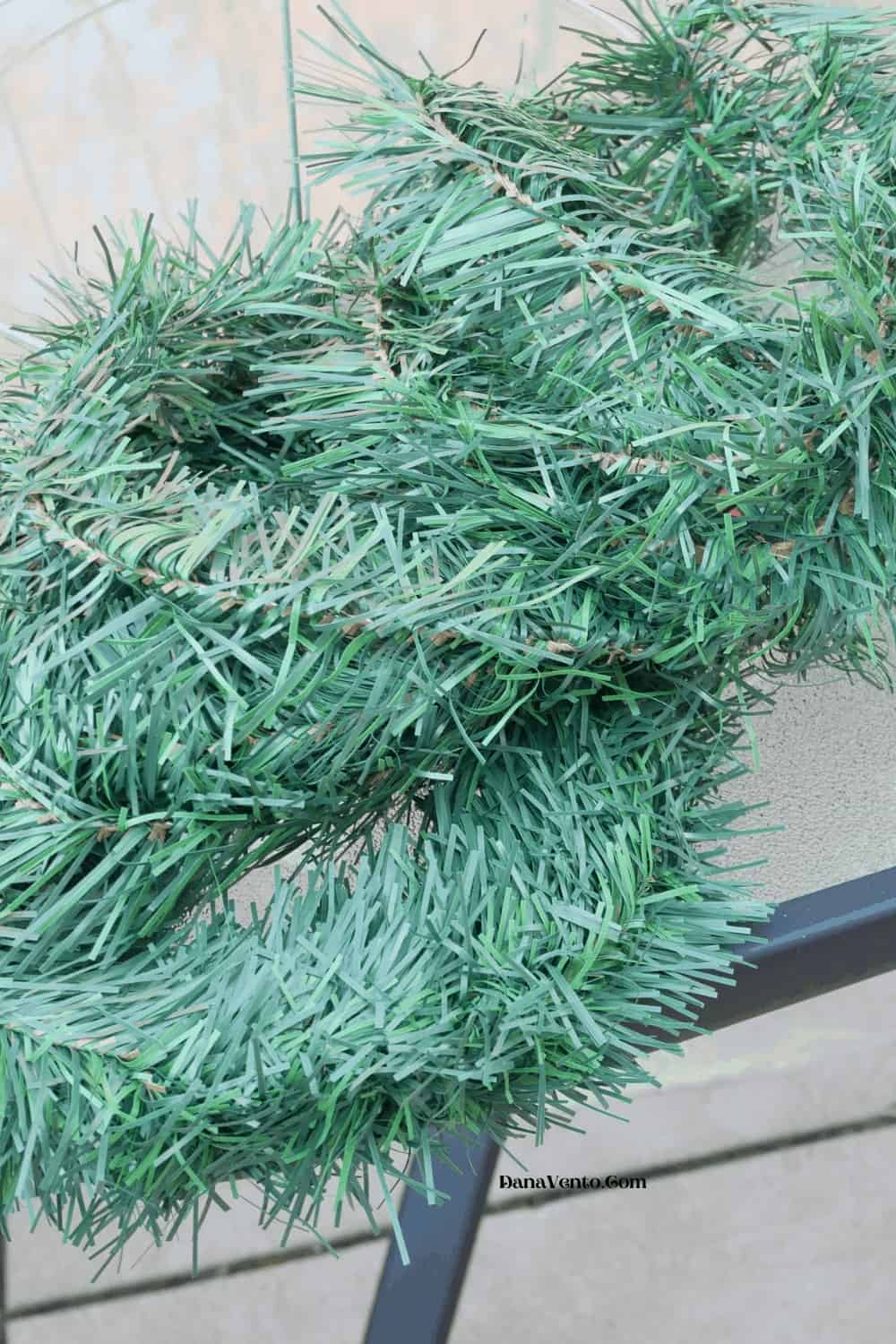 garland for tomato cage Christmas trees