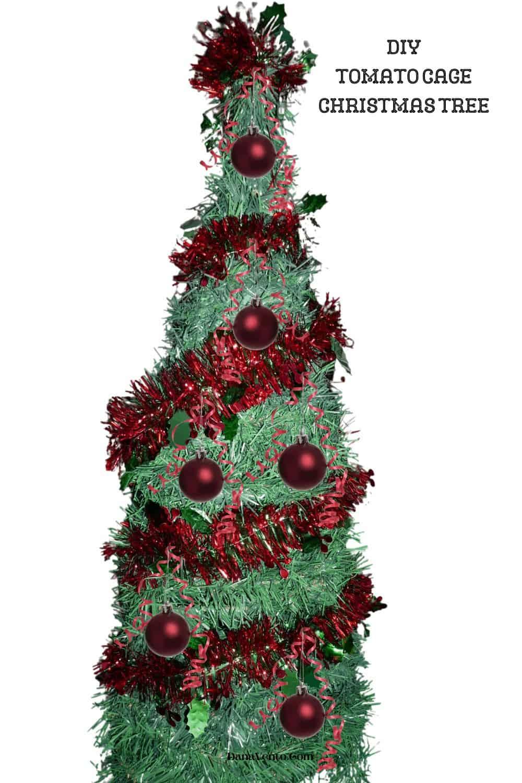 Tomato Cage Christmas Tree with Bulbs