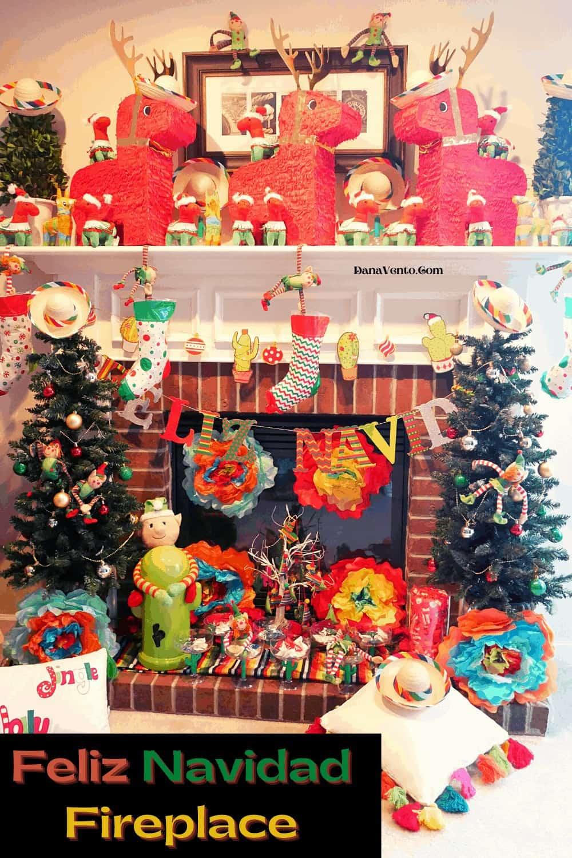 full front of Feliz Navidad Mantel Scape