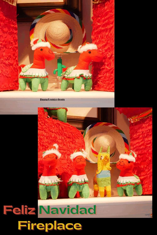 Christmas Alpacas on Feliz Navidad Mantel