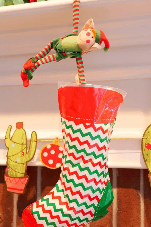 elf and stocking