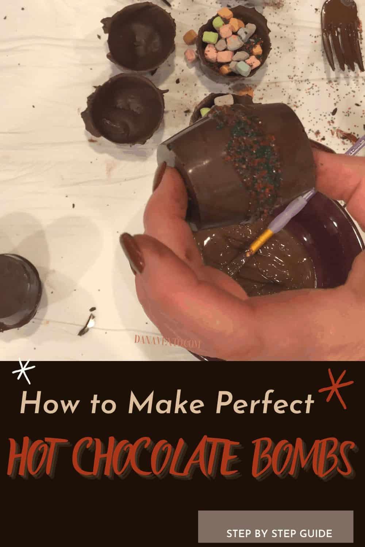 paint brush sealing hot chocolate bomb