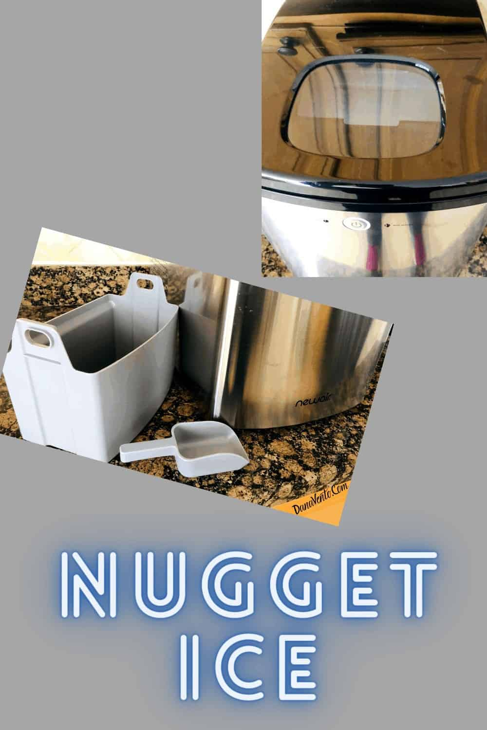 basket and scoop for nugget ice