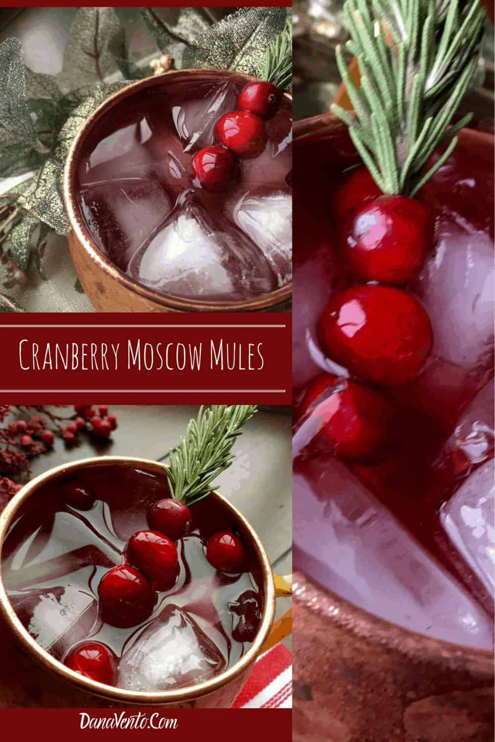 3 Cranberry Ginger Mules