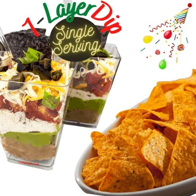 Party Perfect Single Serving 7-Layer Dip Cups