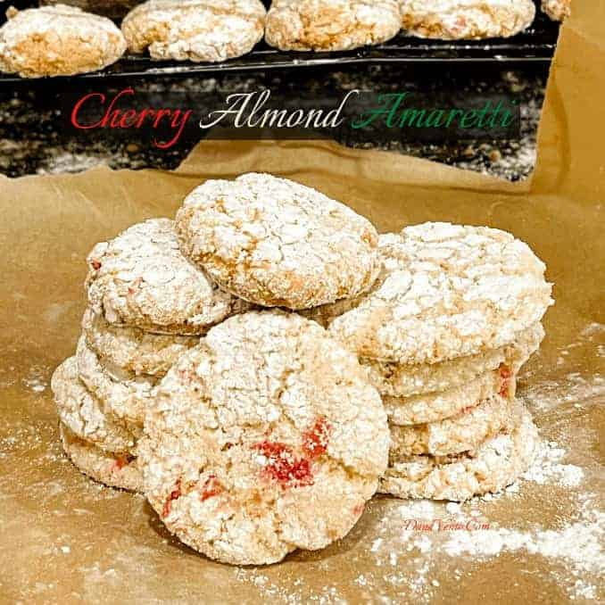 Crisp and Chewy Italian Cherry Almond Amaretti
