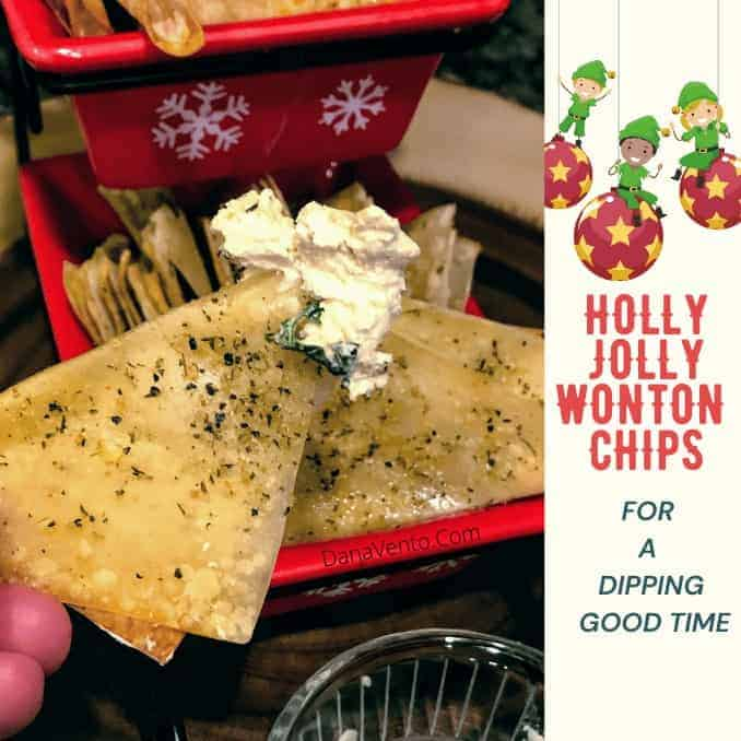 Holly Jolly Wonton Chips for a Dipping Good Time!