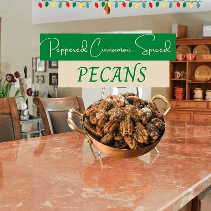 Peppered Cinnamon-Spiced Pecans: 1 Great Sweet & Hot Snack