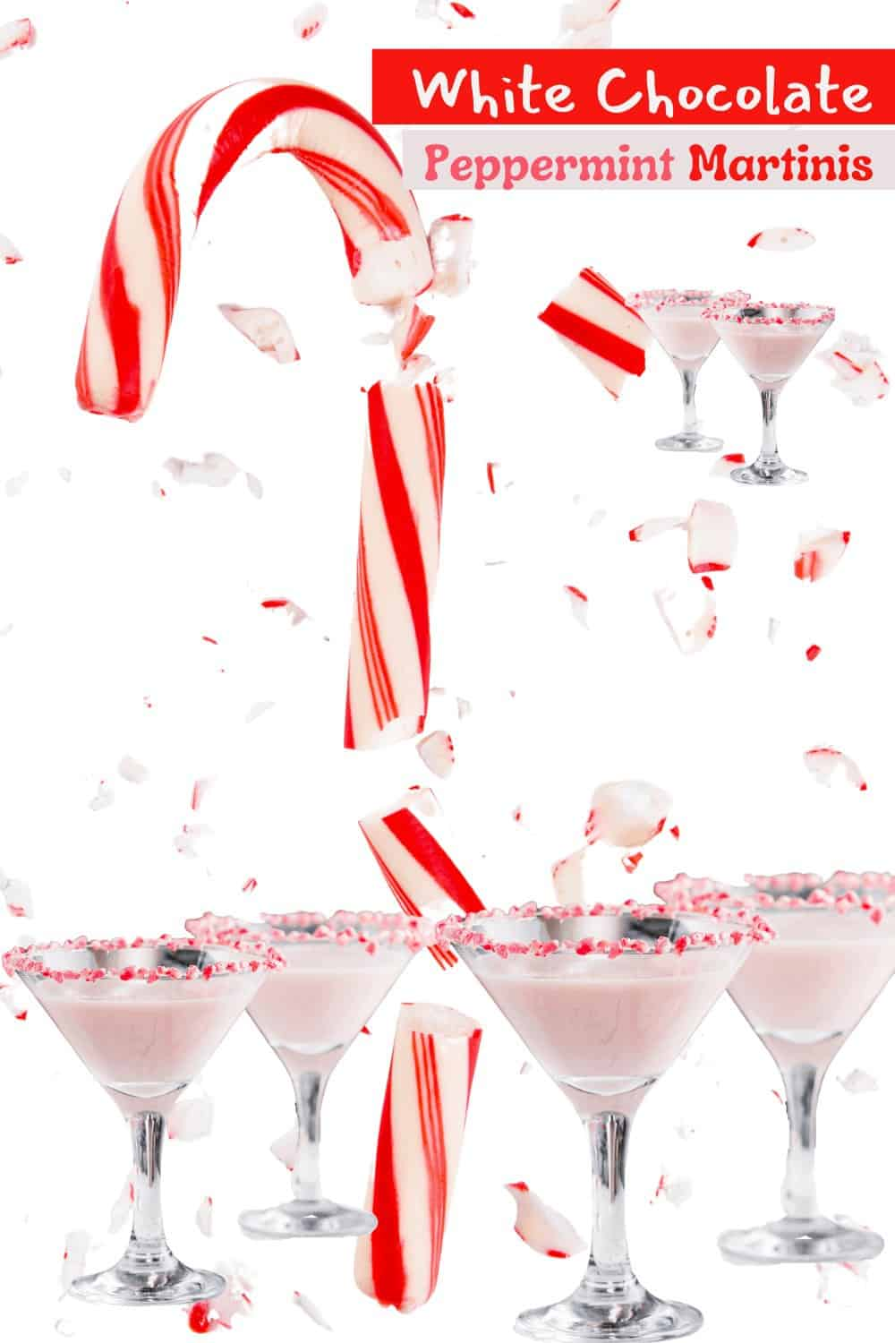 Toothsome and Festive White Chocolate Peppermint Martinis