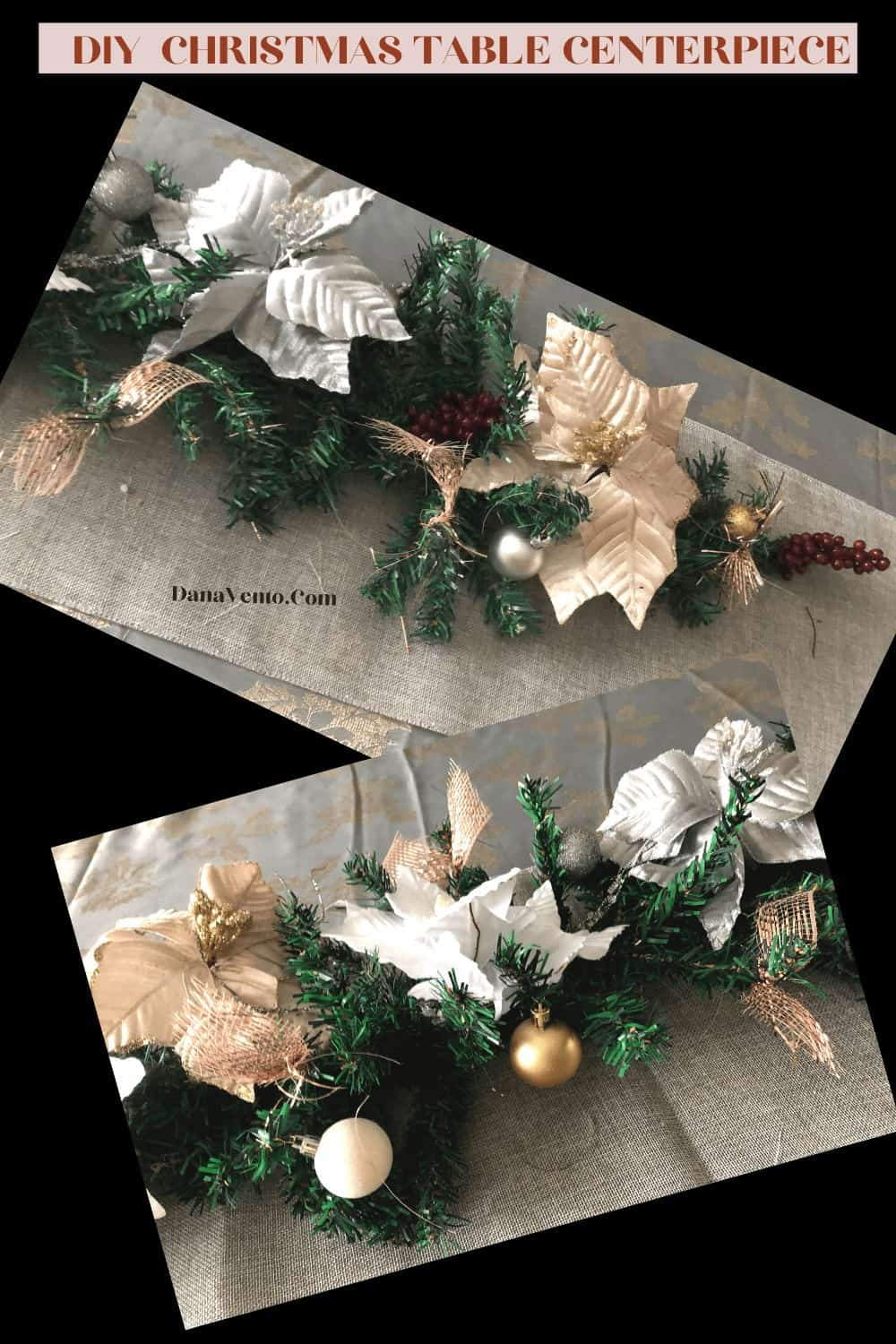 poinsettia clip ons for centerpiece