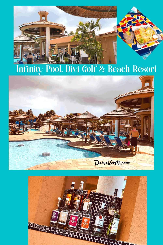Infinty Pool in Aruba Resort mega all inclusive package