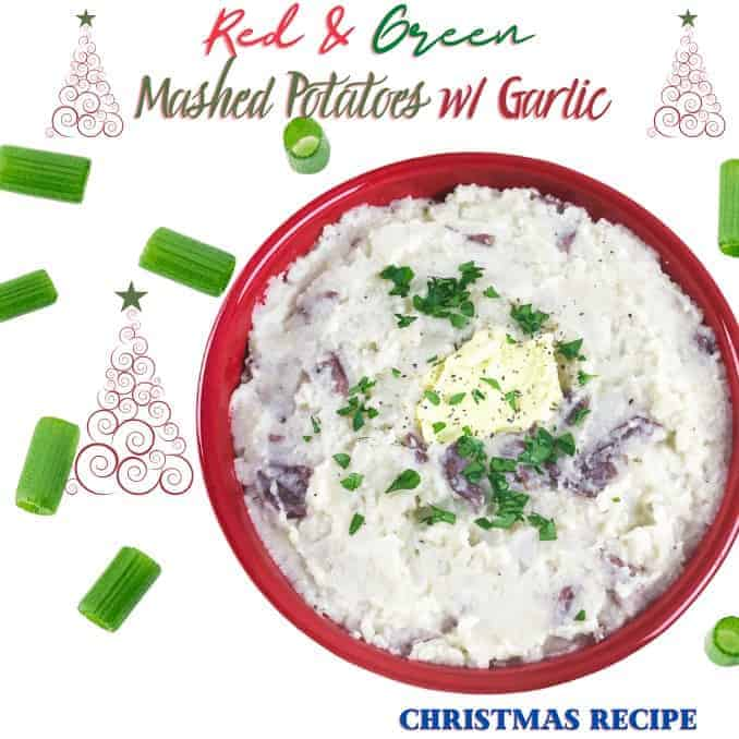 Christmas Red and Green Mashed Potatoes