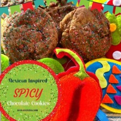 Mexican Inspired Spicy Chocolate Cookies 2 in fiesta mode