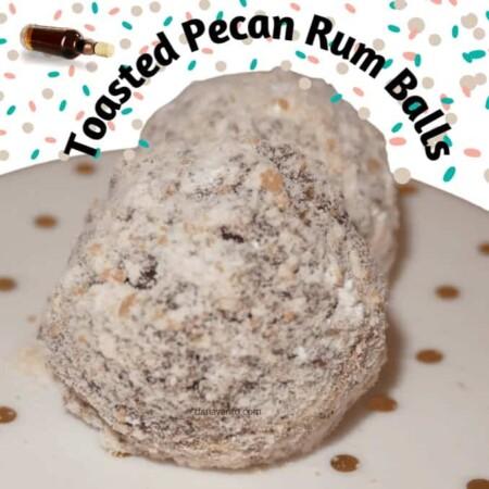 Little Drummer Boy's 'rum pum pum pum' Toasted Pecan Rum Balls That Bring On The Jolly.