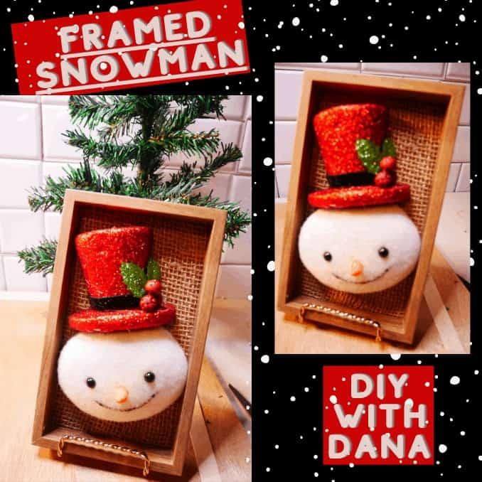 Simple Winter Framed Snowman