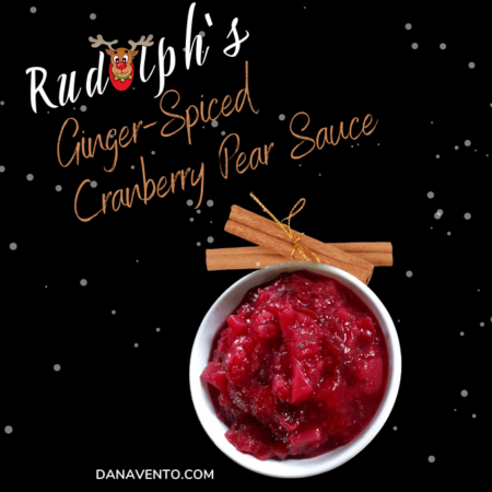 Rudolph's Ginger-Spiced Cranberry Pear Sauce