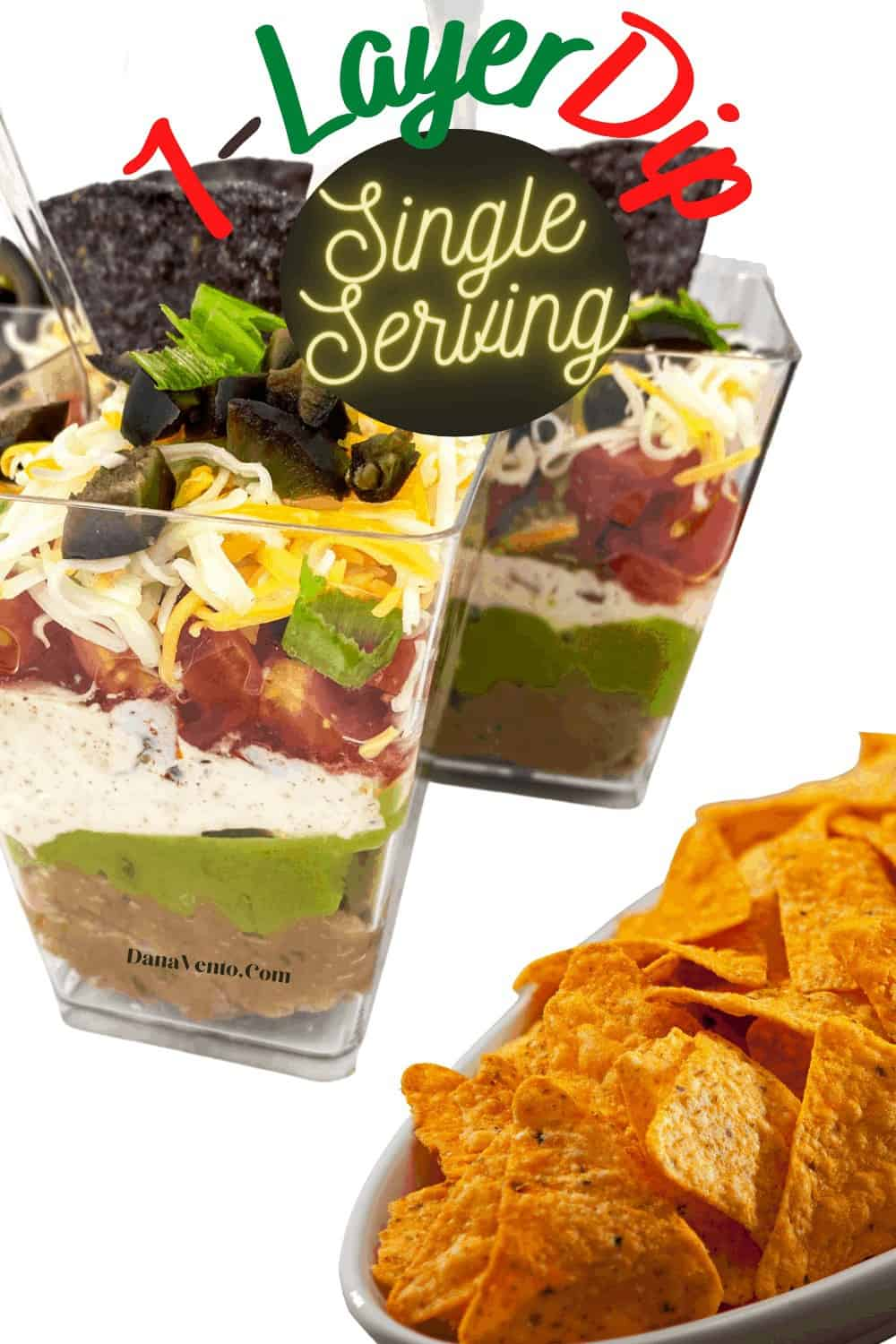 Party Perfect Single Serving 7 Layer Dip Cups - Footbal food ideas