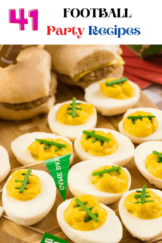 Football Party Recipes - hard-boiled eggs
