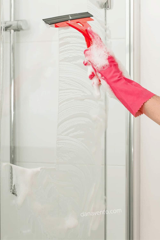 squeegee on shower door