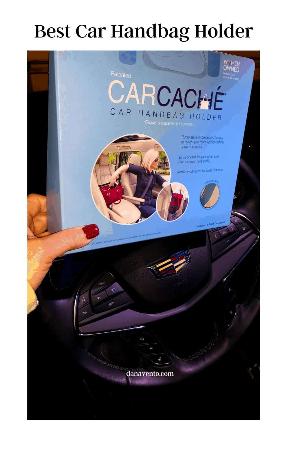 picture of car cache the best car handbag holder I have found