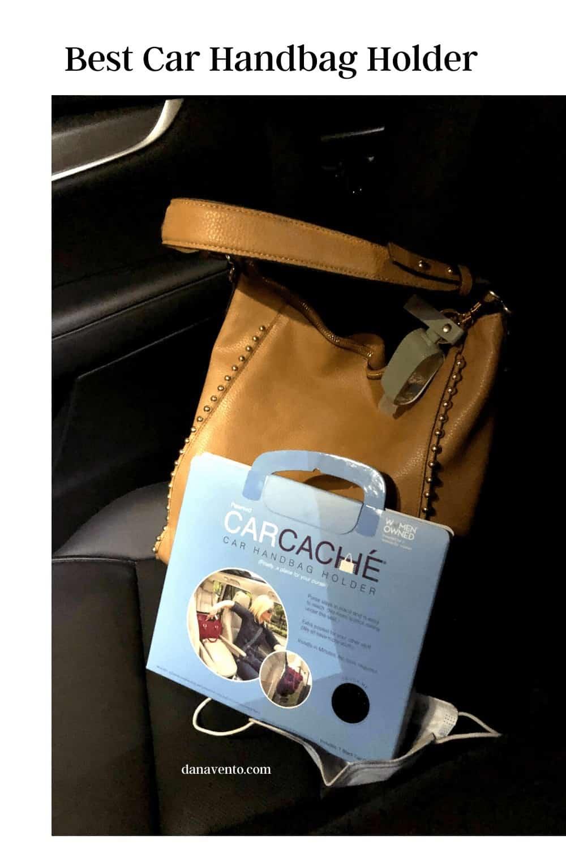 Car Cache Handbag Holder and my handbag