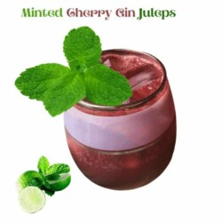 Simple To Prepare Minted Cherry Gin Juleps For the Sophisticated Sipper