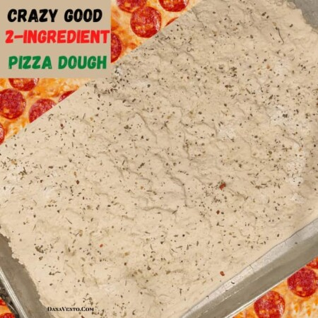 Crazy Good 2-Ingredient Pizza Dough That Delivers Crunchy and Chewy Crust!